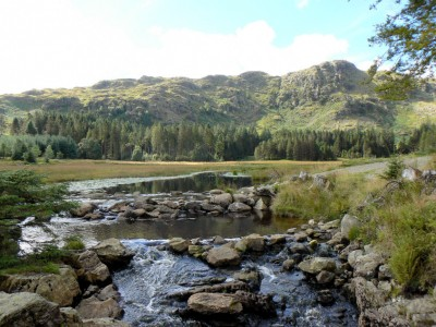Harrop Tarn outflow, Lake District