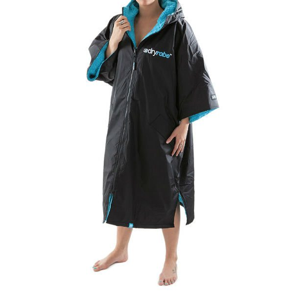 DryRobe Changing Robe Black-Blue