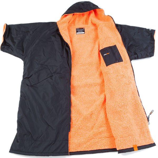 DryRobe Changing Robe Black-Orange inner