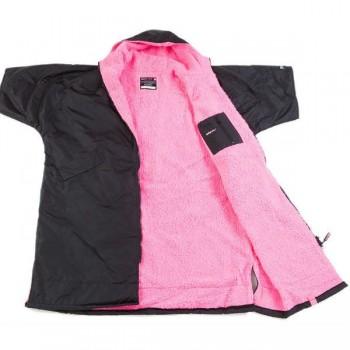 DryRobe Changing Robe Black-Pink