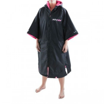 DryRobe Changing Robe Black-Pink
