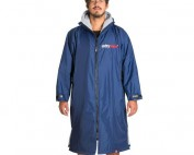 DryRobe Advance Long Sleeved Changing Robe_Navy Grey