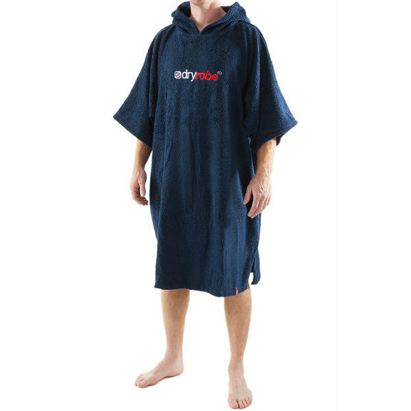 Short Sleeve Towel DryRobe Navy Blue