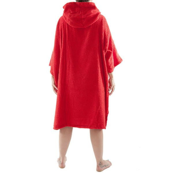 Red DryRobe Swimming Changing Towel rear