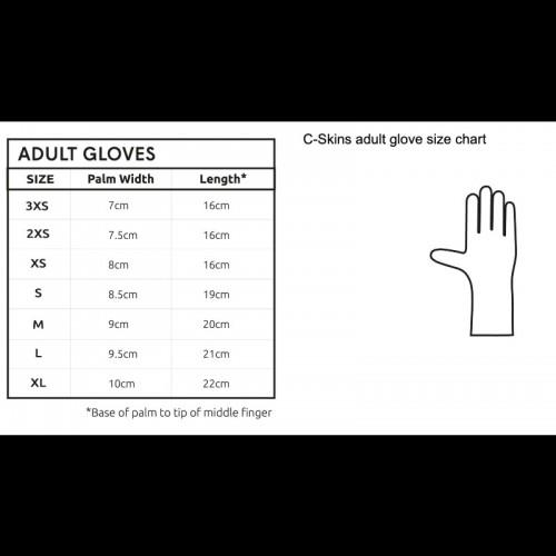 CSkins neoprene glove size chart