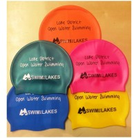 Swim the Lakes swim caps, various colours
