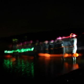 Night swimming action