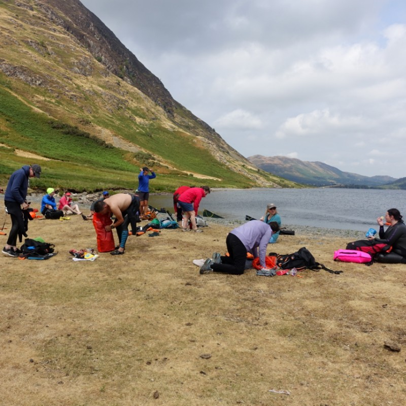 Lunch stop on Crummock Water