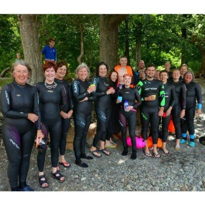 Happy Swimmers at Calf Close Bay