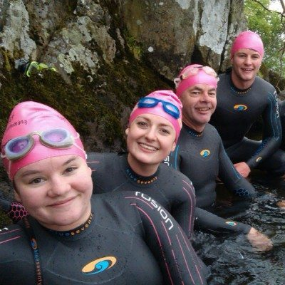Swimmers at Gale Naze
