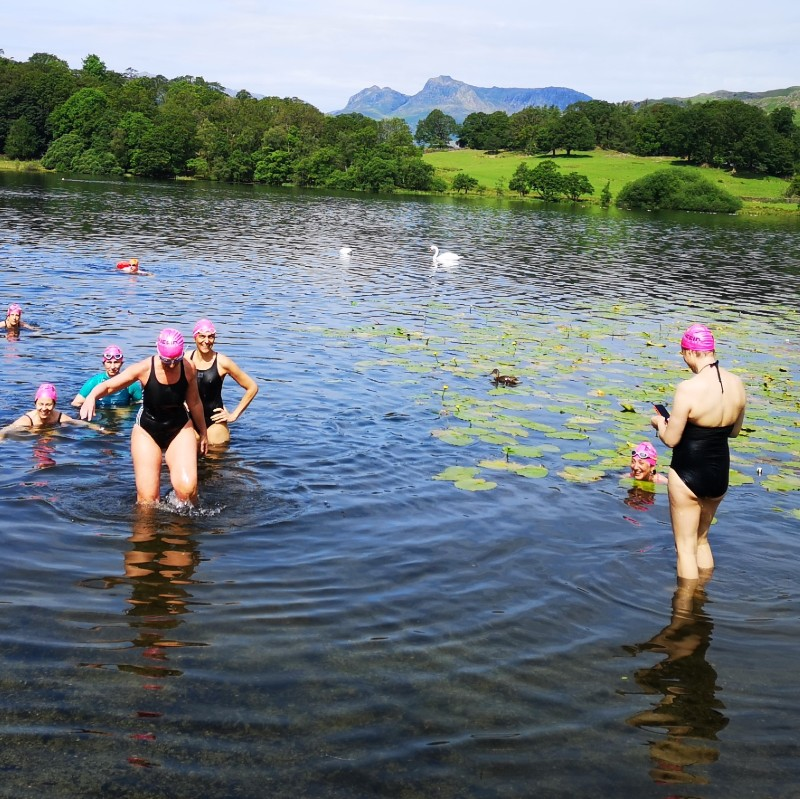 Loughrigg, Lakes and Lilies swimmers