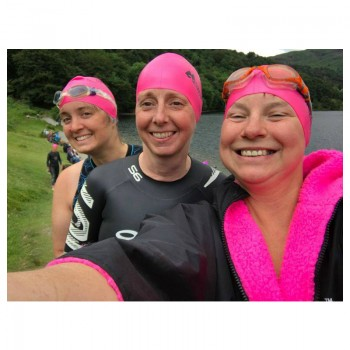 Swimmers in pink