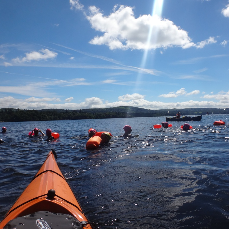 Swimmers in Windermere