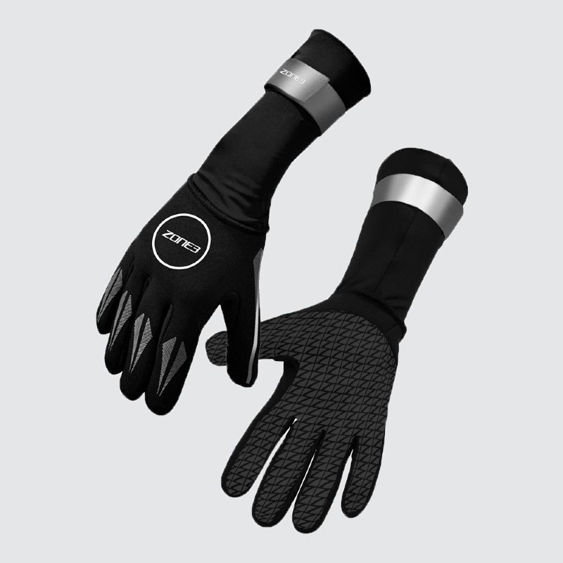 pair of Zone3 neoprene swim gloves