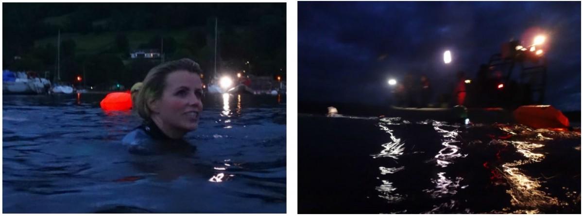 Lake District night swim