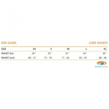 BlueSeventy Core Short size chart