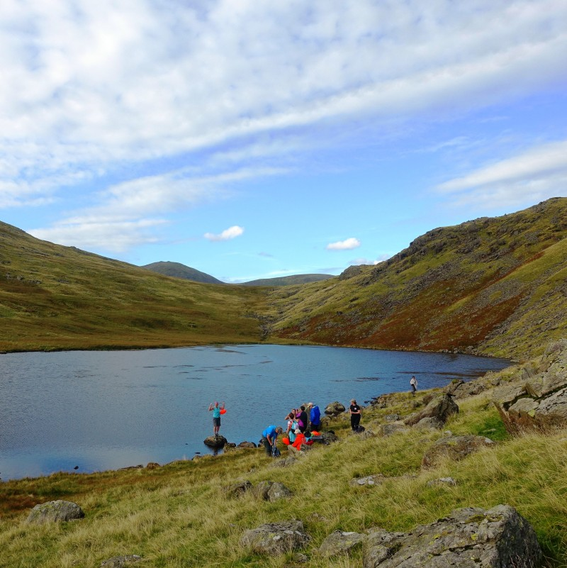 Swimmers at Tarn above Wastwater