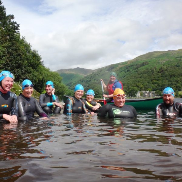 swimmers at Grasmere Island
