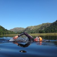 Flat calm day swimming in the Lake District