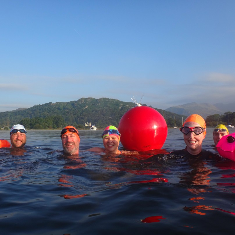 Introduction to open water swimming in Windermere