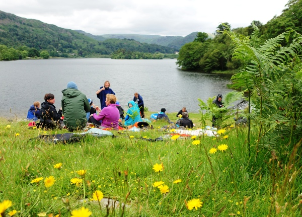 Lake side picnic Grasmere
