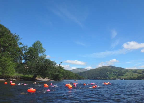 Swimmers enjoying a glorious Windermere