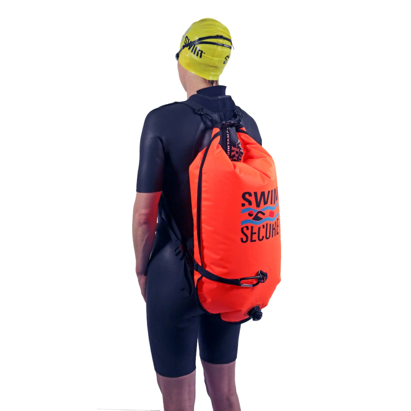 carrying a swim secure wild swim bag