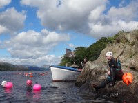 swim to wild cat Island, on rock
