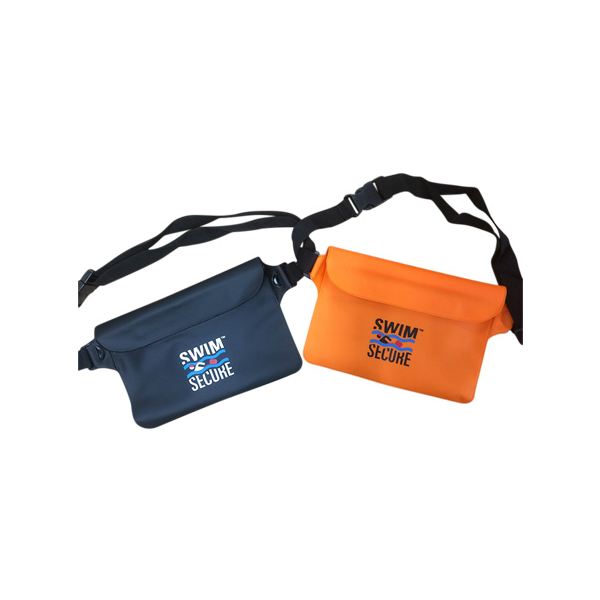 Swim secure bum bag black and orange
