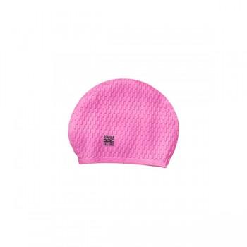 large silicone swim cap pink