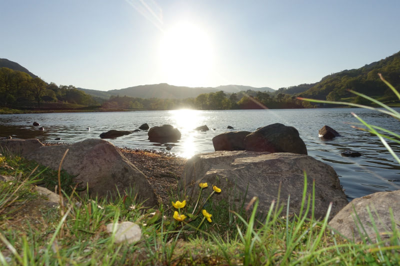 Where to Swim in the Lake District: Sunset over Rydal Water