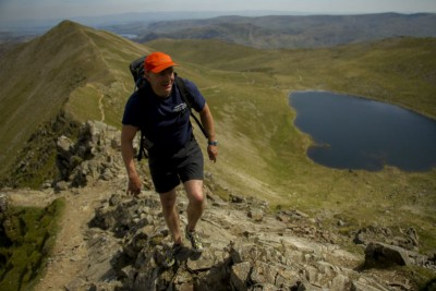 Where to Swim in the Lake District: Climbing Swirral Edge above Red Tarn