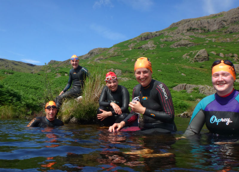Easedale Tarn Swimming