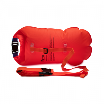 shows the back of the Billy Eco15 Drybag Float