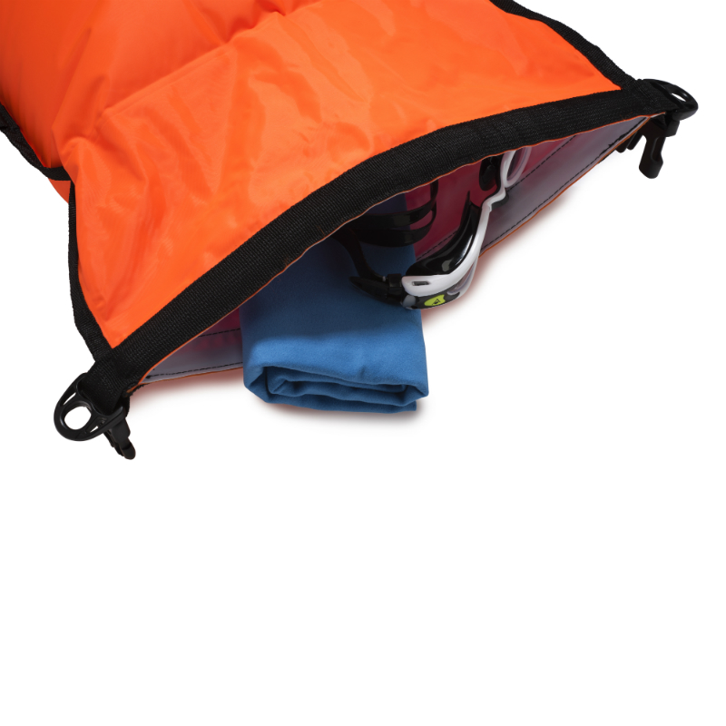 28l Orange Swim Buoy Safety Tow Float And Dry Bag