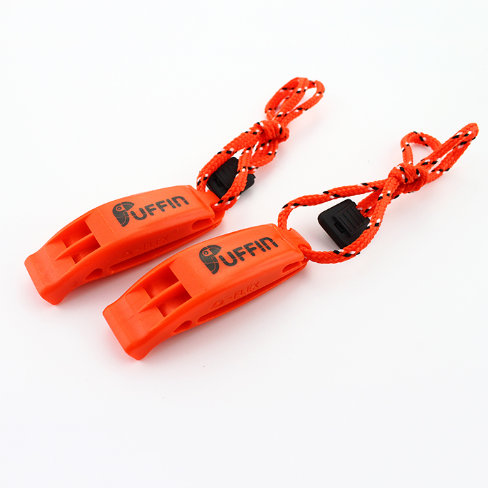 Puffin Swim Safety Whistle knotted