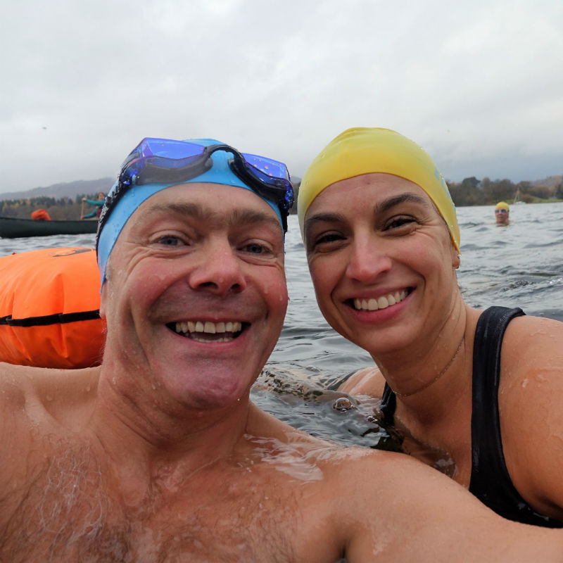 Pete and Emma_Cold Water Swimming Workshop