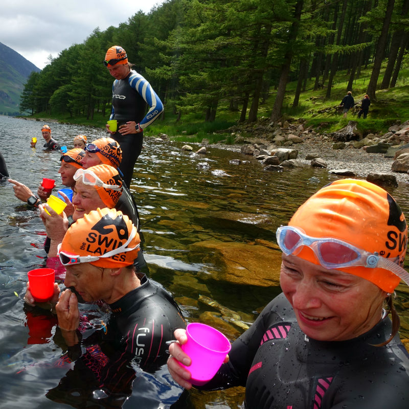 Buttermere Swim Hike Tea Stop