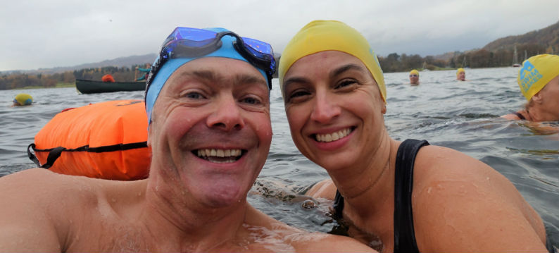 Pete and Emma Ice Swimming Wim Hof Method
