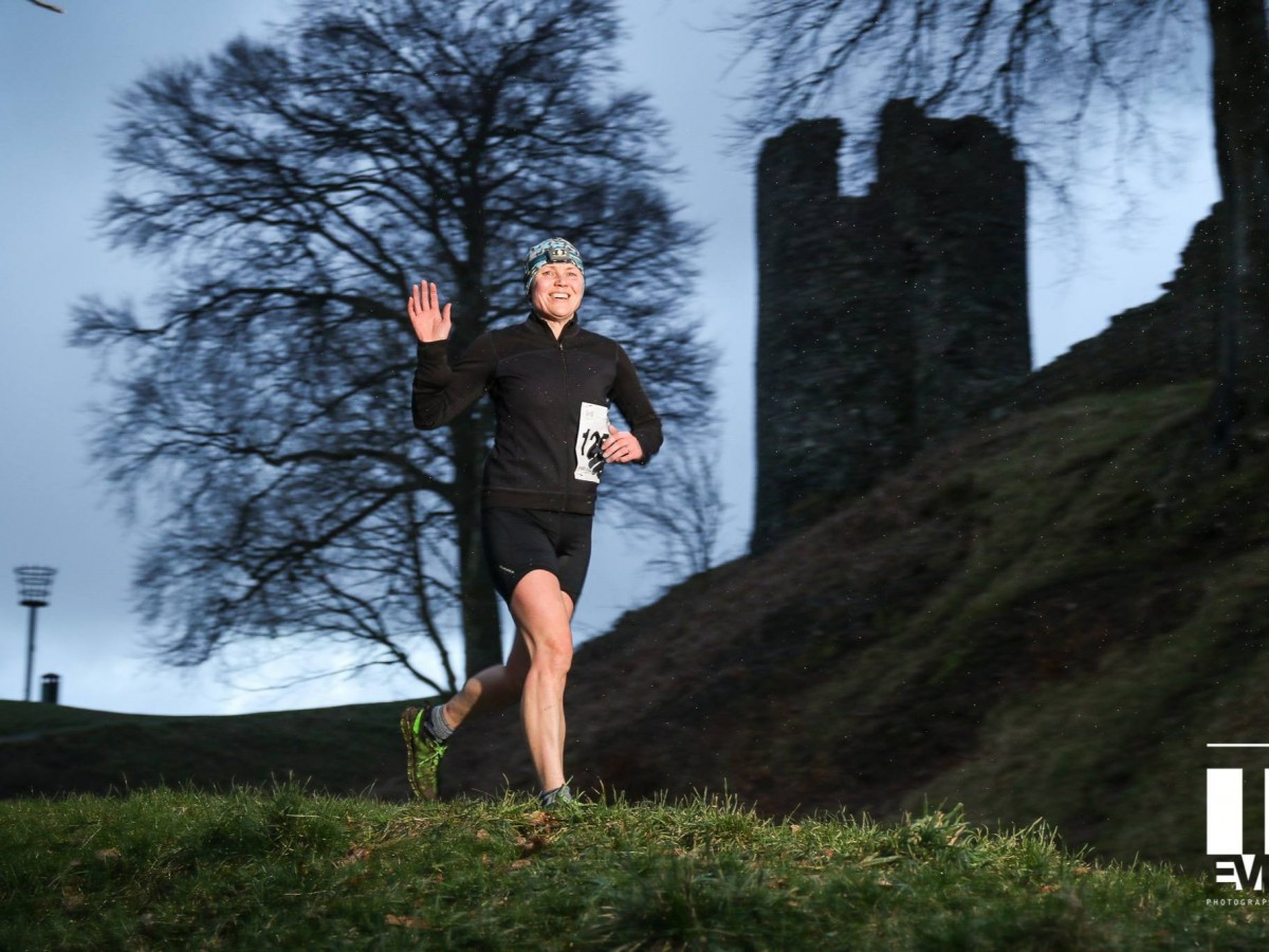 Running past Kendal Castle