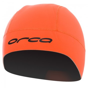 orca orange neoprene swim hat