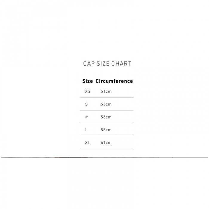Swim Research neoprene cap size guide