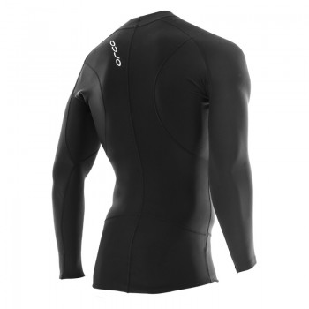 image showing back of long sleeve base layer for swimming