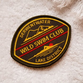 Derwent Water sew-on swim badge green
