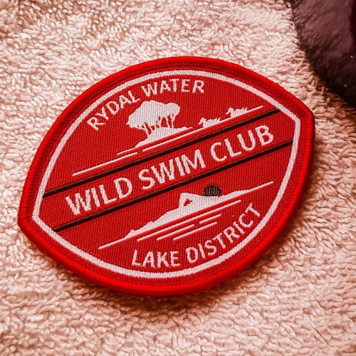 Rydal Water Sew-on swim badge red