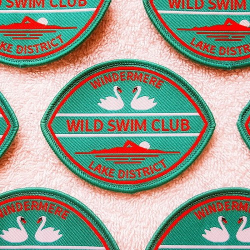 windermere sew-on swim badge teal