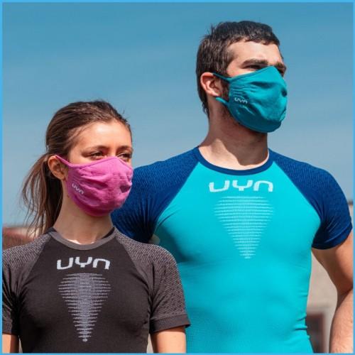 lady and man wearing UYN masks