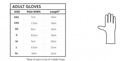 C Skins Swim Glove Size Chart