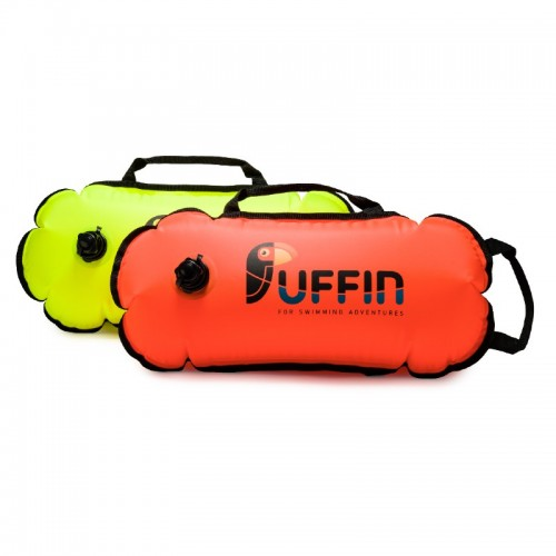 Bubble Eco tow float in orange and neon yellow