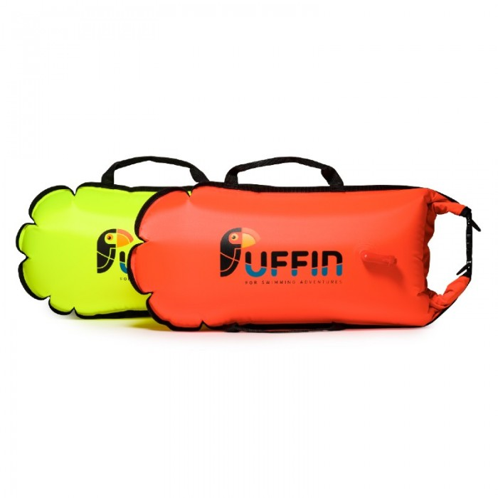 Billy R28 Drybag float in Orange and neon yellow